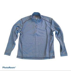 Pebble Beach Pullover Blue Half Zip Size Small